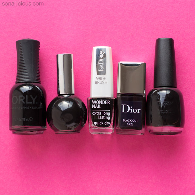 Top 5 Black Nail Polishes