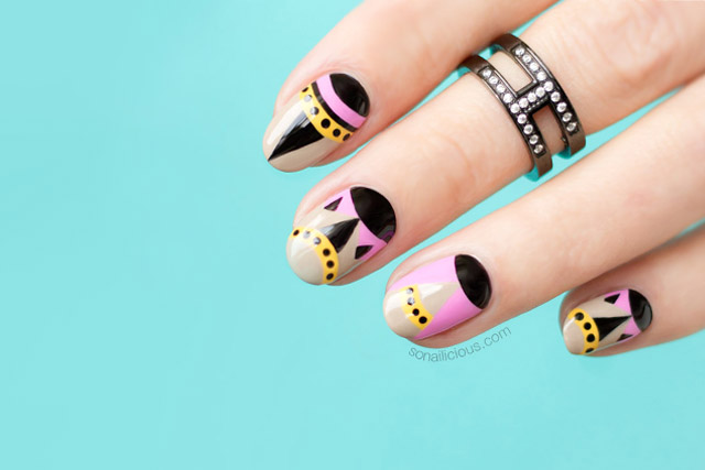 Fashion nails archives sonailicious nails of the day tiny monster fendi nail art prinsesfo Images