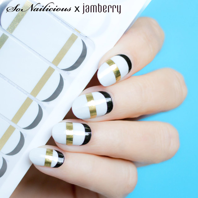 geo french twist jamberry nail wraps - SoNailicious