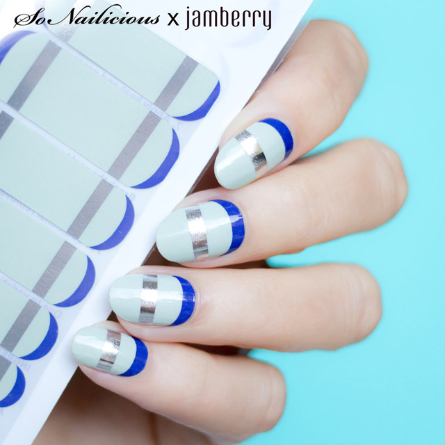 mint french twist sonailicious x jamberry, jamberry nail wraps review