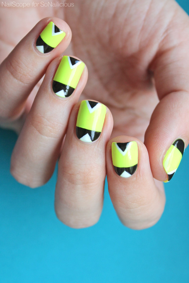 Geometric Neon Nails [NAIL ART TUTORIAL]