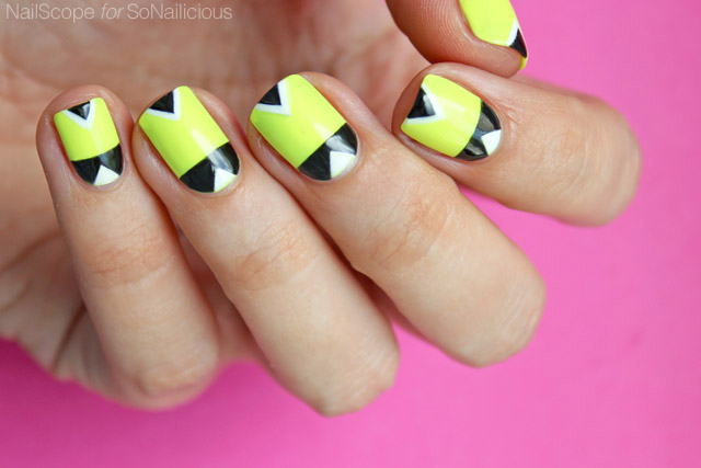 neon nails, DIY summer nails