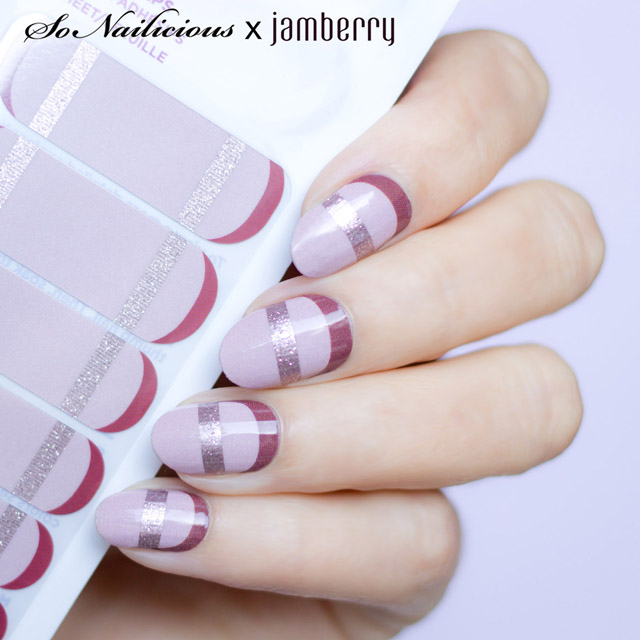 suave french twist jamberry x sonailicious nail wraps