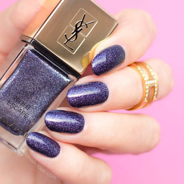 YSL night escape swatches