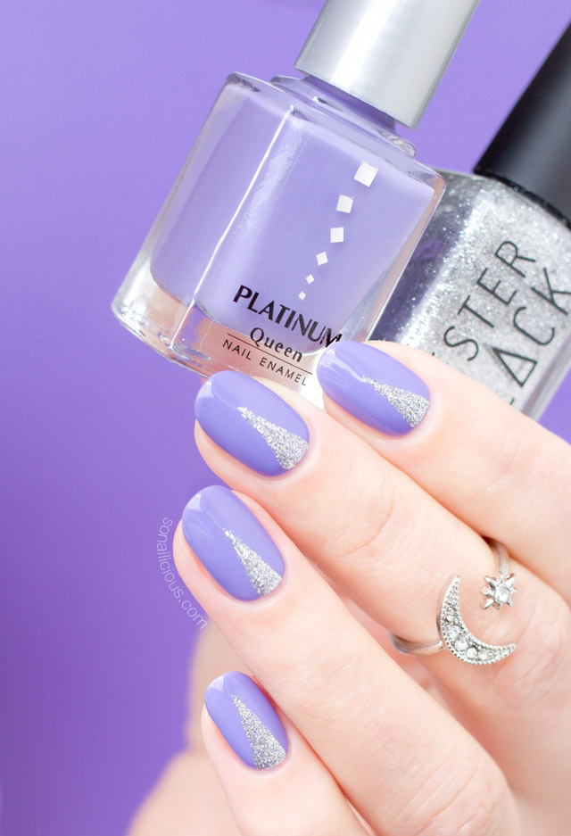 easy nail art, lilac nails