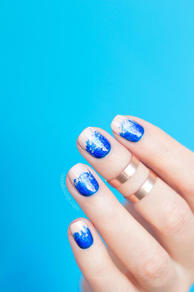 nail foil, blue foil, oil spill nails - SoNailicious