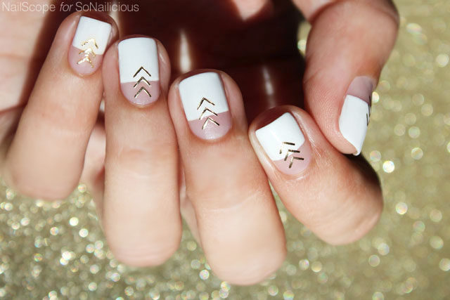 White and gold nail art tutorial prinsesfo Choice Image