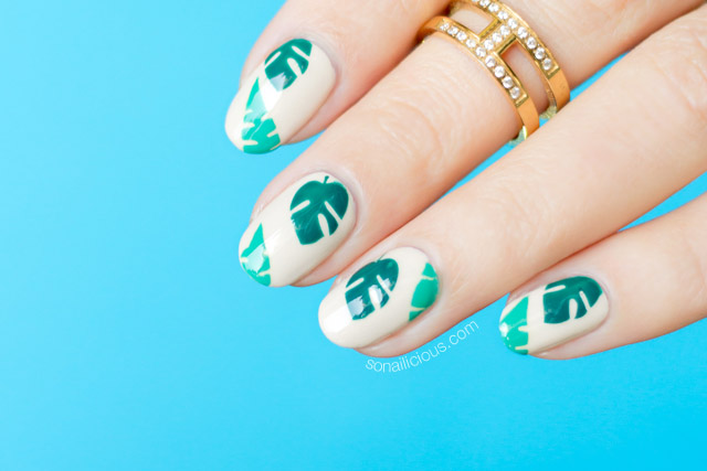 tropical nails, holiday nail art