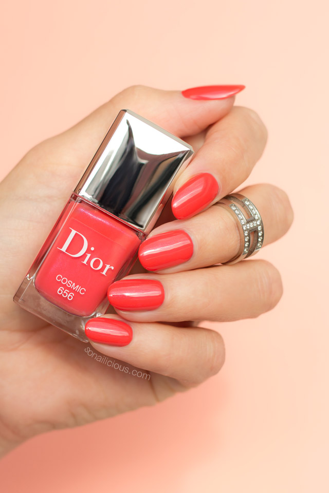 dior-cosmic-swatches-coral-nail-polish