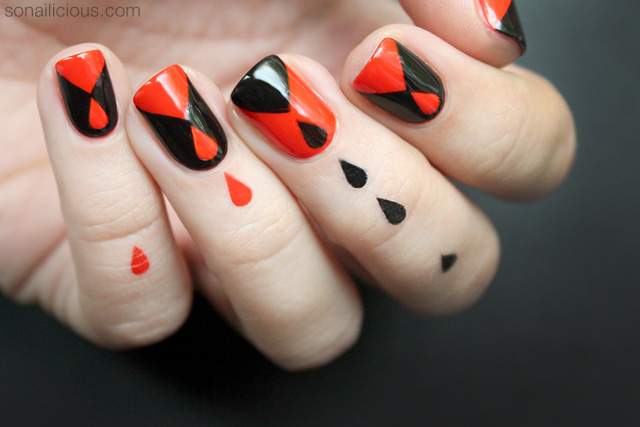 dripping blood halloween nail design tutorial