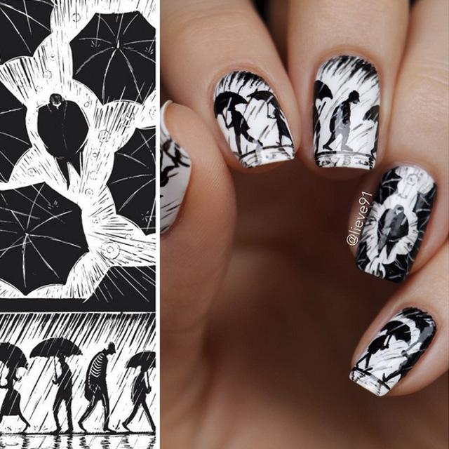 Rainy Sunday nails by Anja