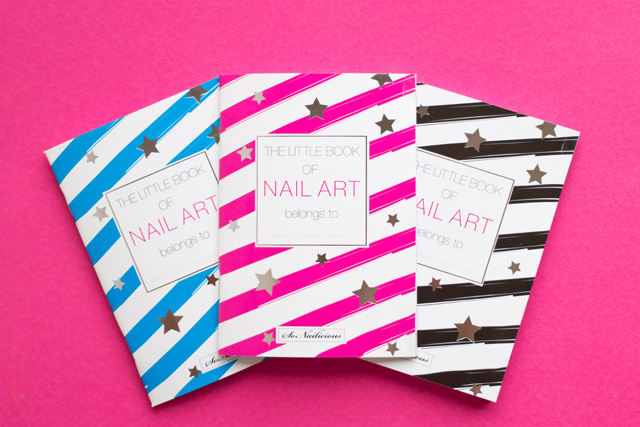nail art sketch book, the little book of nail art