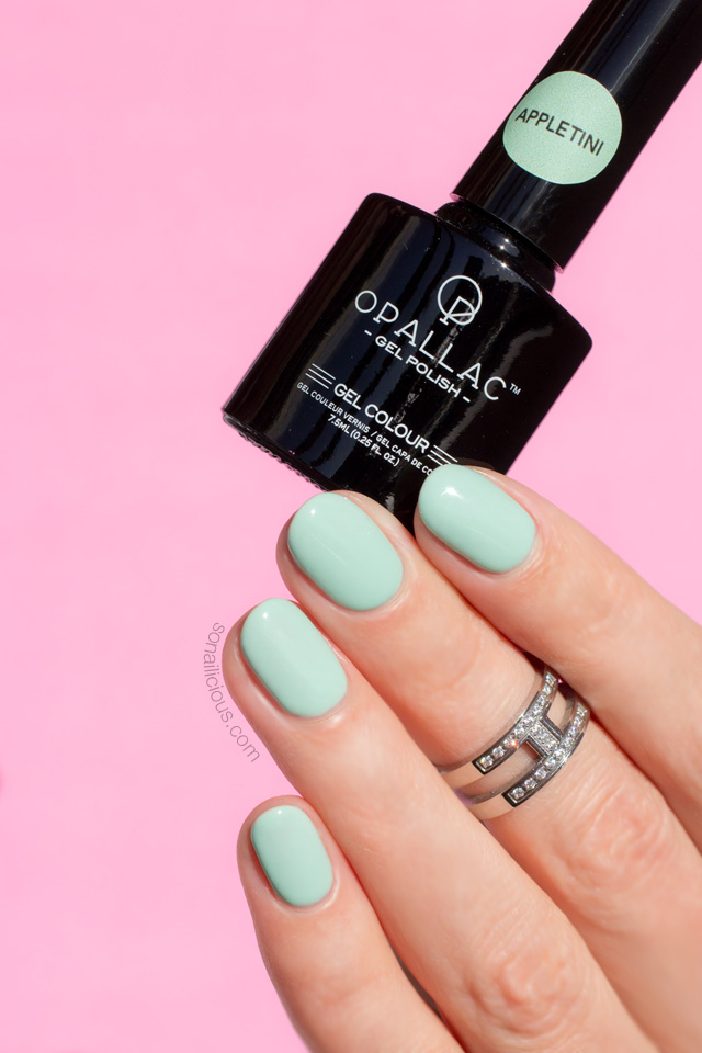 opallac appletini gel polish, gel nails at home how to