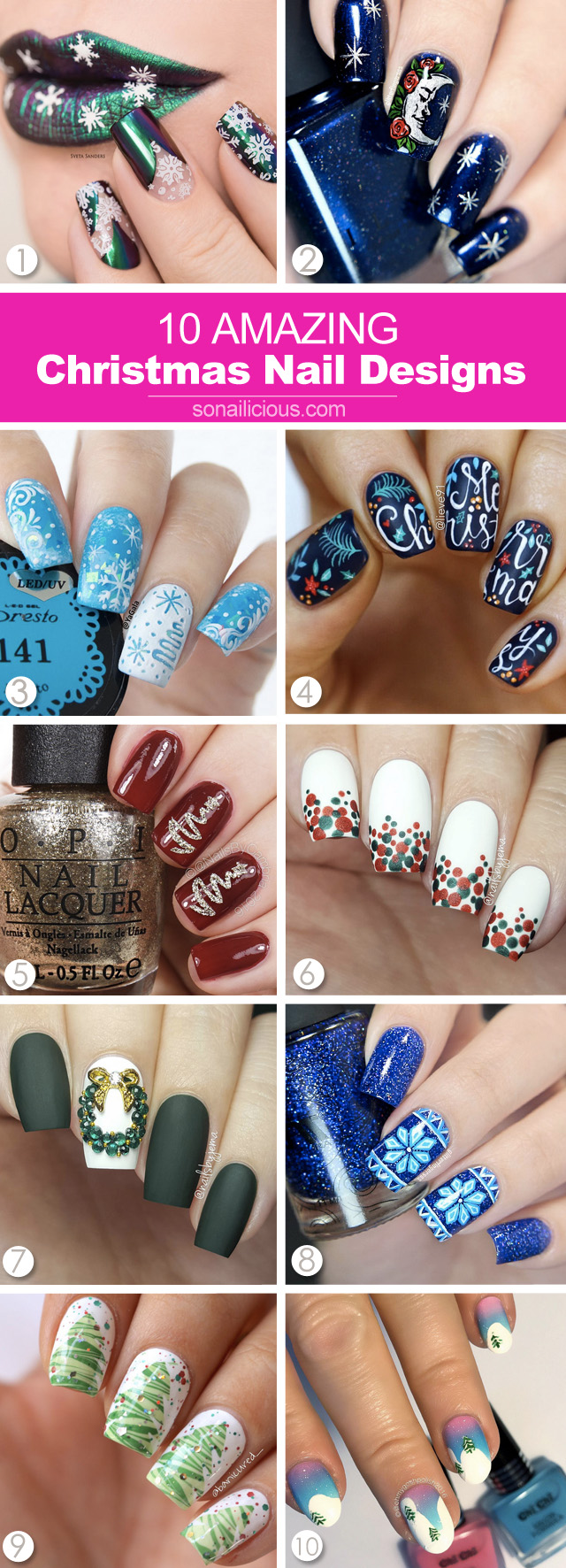 10 best christmas nails