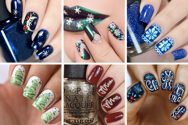 amazing christmas nails