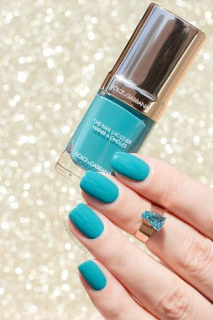 DOLCE & GABBANA polish turquoise review