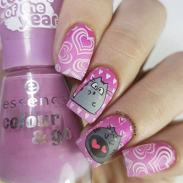Love cat nails by @kleigheart