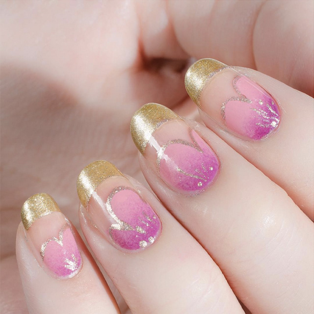 Rose Gold Valentines Day Nail Design By Cassmariebeauty Sonailicious
