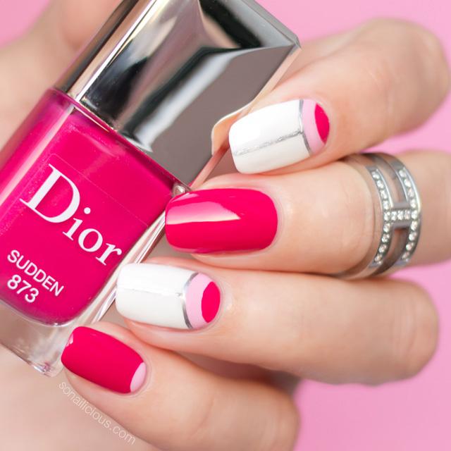 dior nail polish, pink nail design