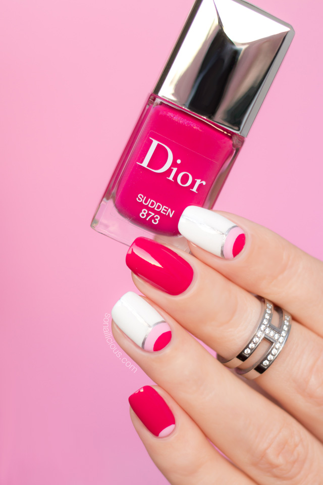 dior sudden swatch, pink nails