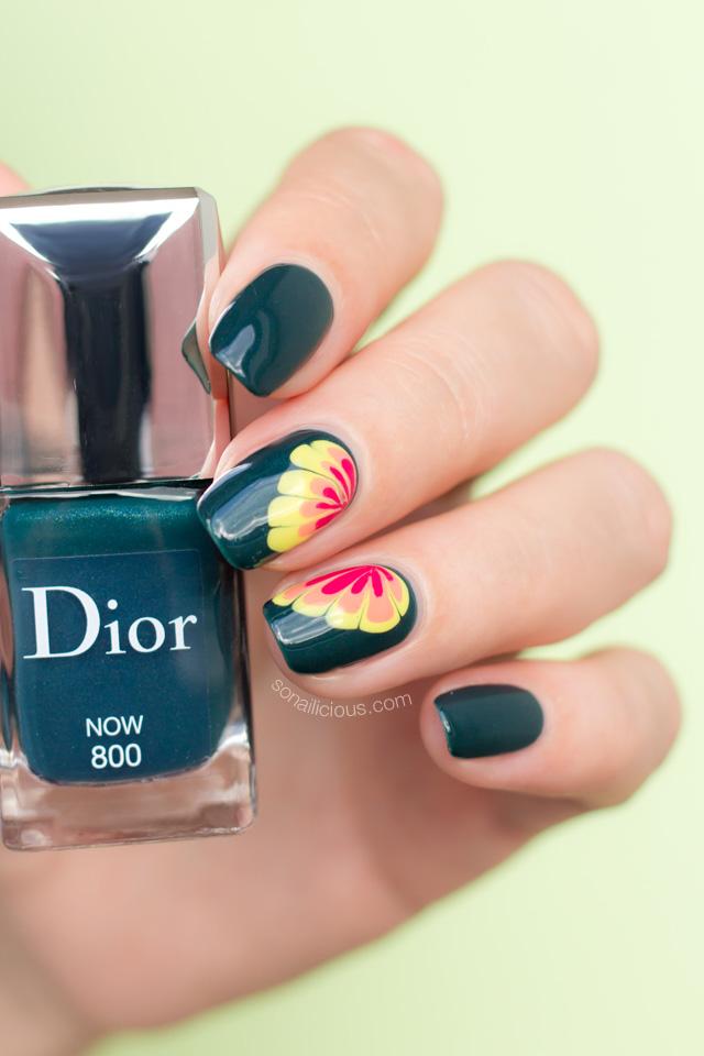 flower nail design, Dior Now