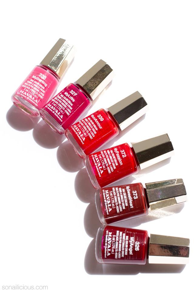 mavala i love mini colors nail polish collection