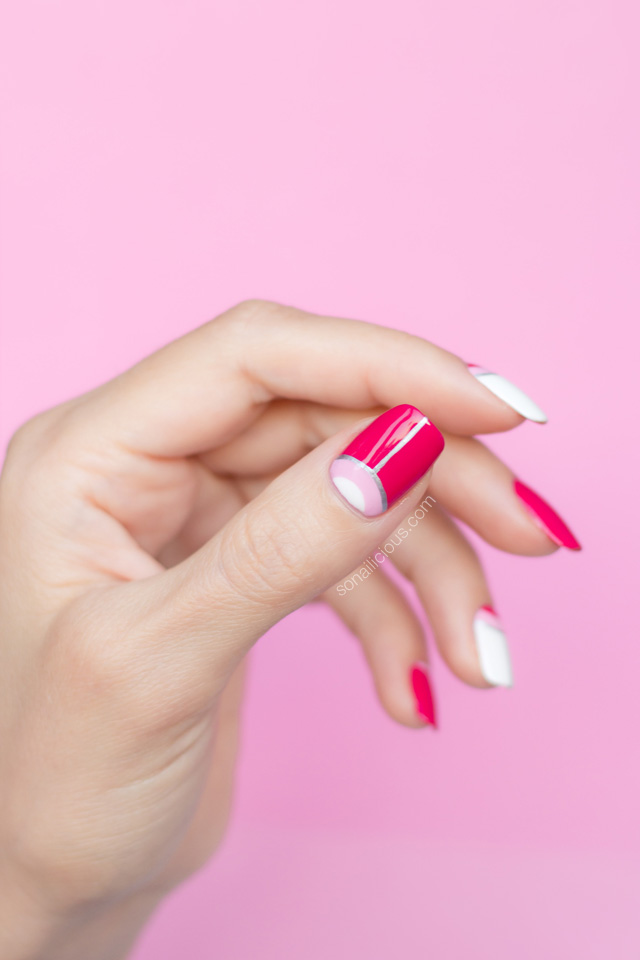 pink nails, pink nail design