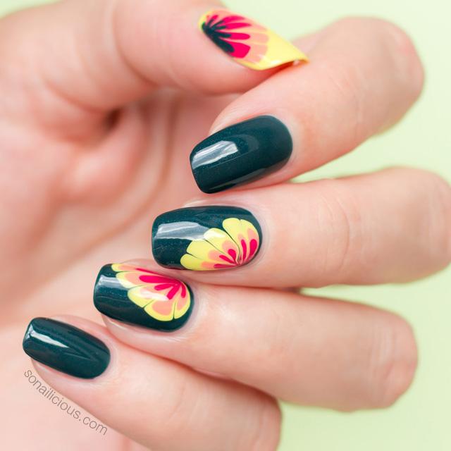 spring nail art, floral nail design