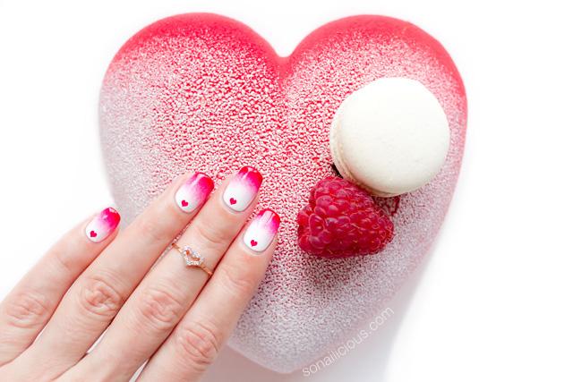 valentines nails, valentines day cake