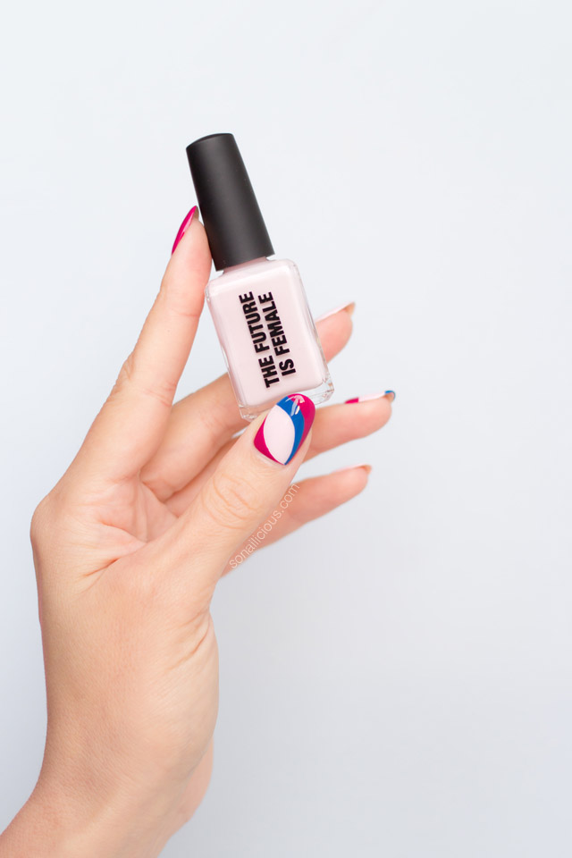 kester black the future is female swatch, nail art