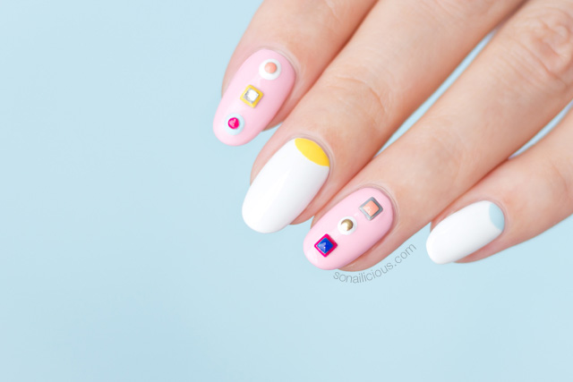 spring nail design, fendi nails