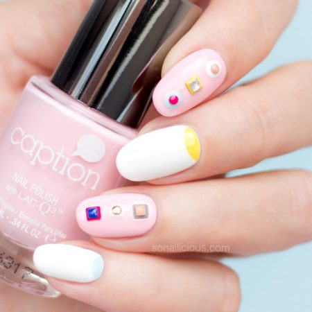 spring nails, caption polish