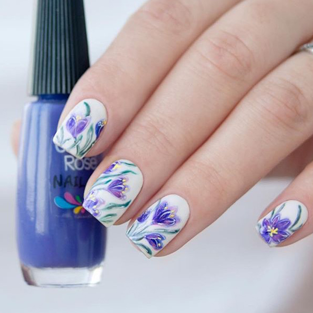 Spring Flowers nail design by @yulia_nails
