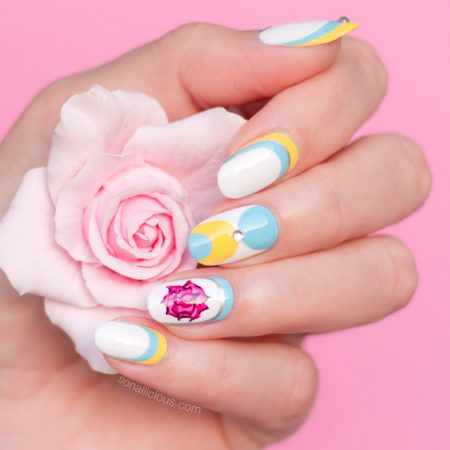 beauty and the beast nail art, 1