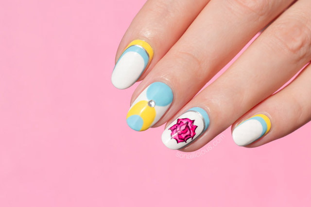 beauty and the beast nails, spring nail art