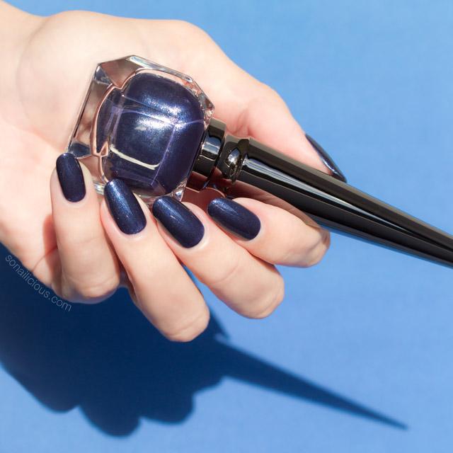 dark blue nail polish, louboutin bianca