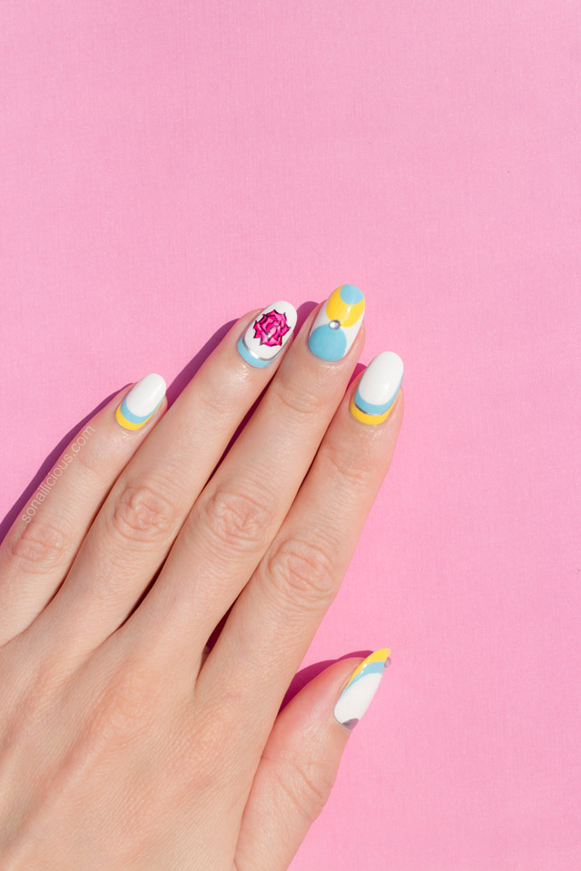 elegant nail art, spring nails