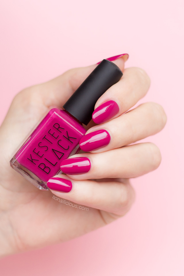 kester black raspberry, berry red nail polish