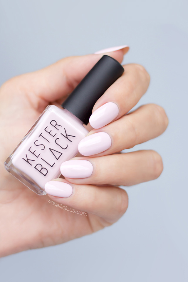 kester black the future is female, light pink nail polish
