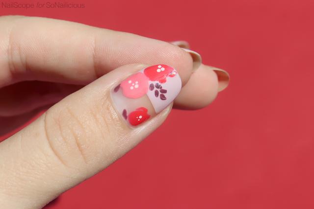 spring nail art, floral nails