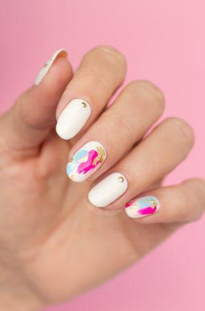 japanese nail art, cool foil nails
