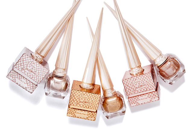 best summer 2017 nail polish colours, louboutin metalinude nail colours
