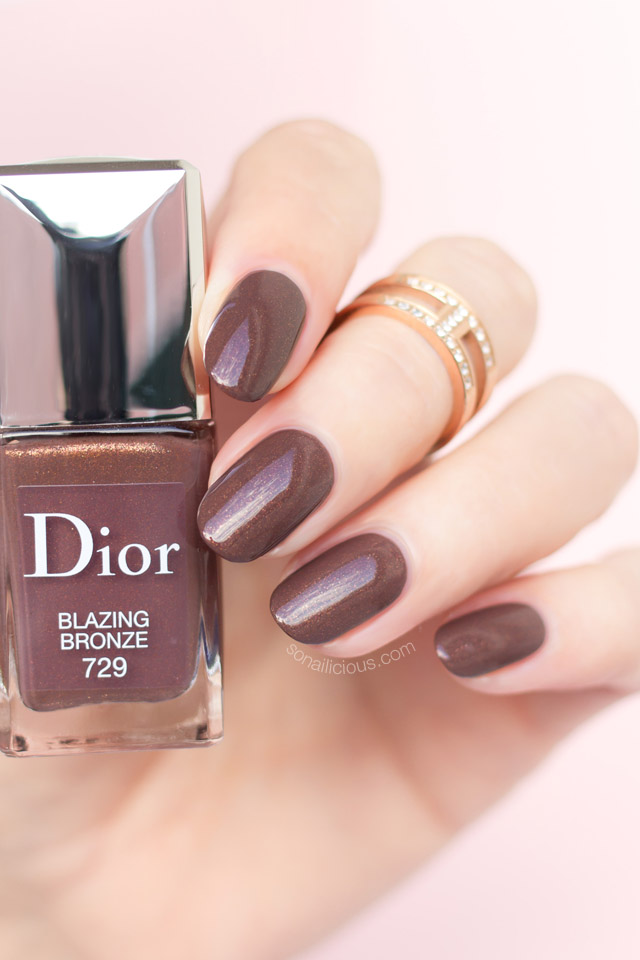 dior blazing bronze swatch, brown polish