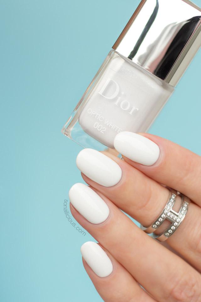 dior optic white swatch, best white nail polish