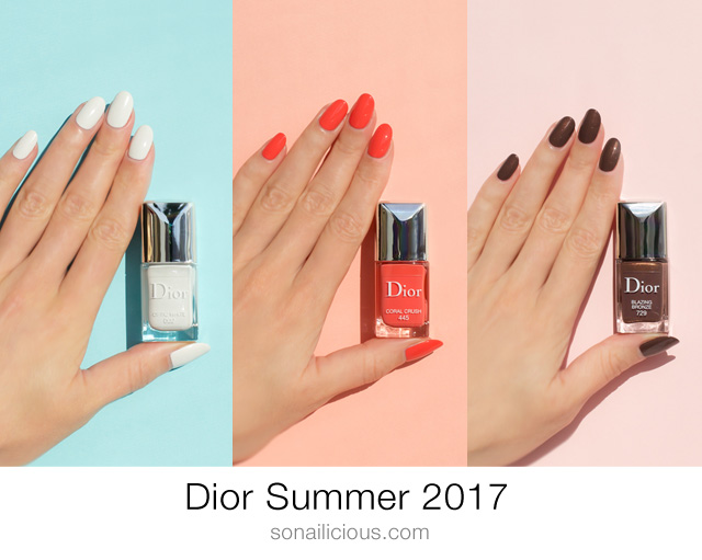 dior summer 2017 nail polish collection review swatches