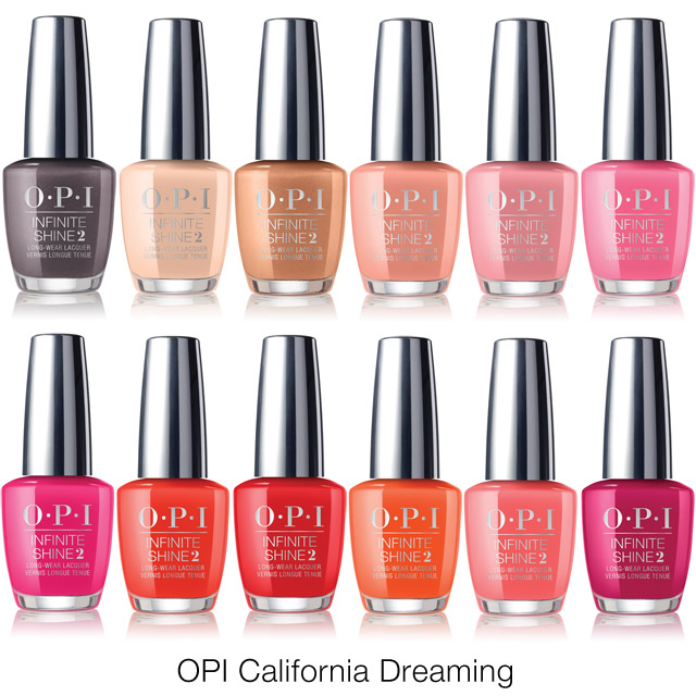 opi california dreaming summer 2017 nail polish colours