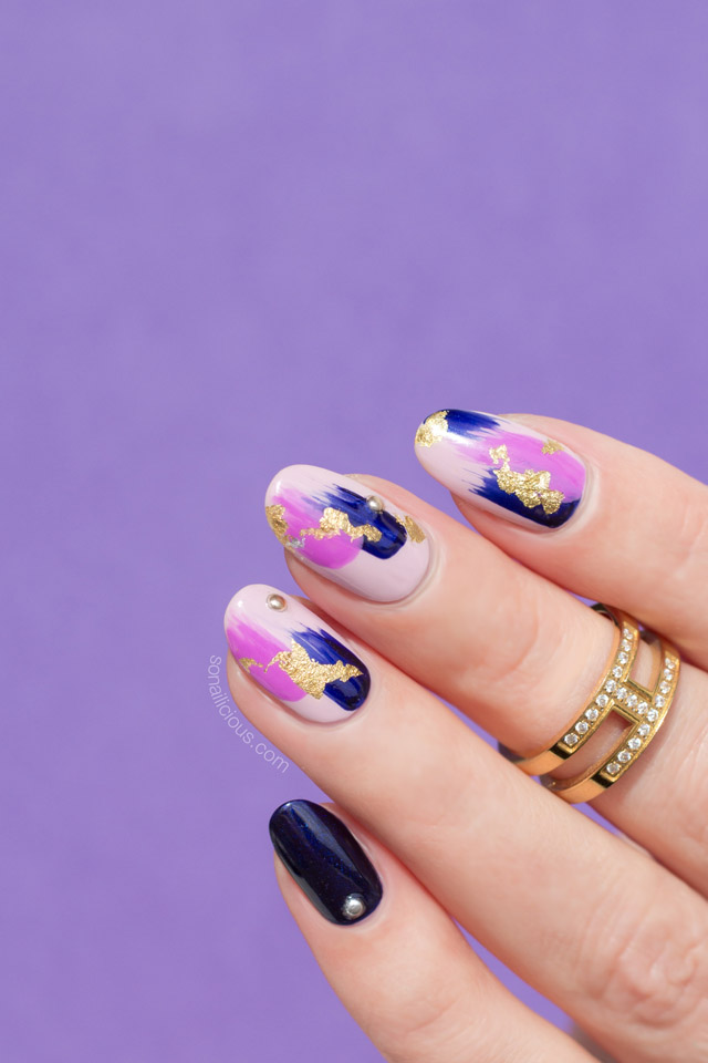 - Abstract Purple Nail Design. Plus, How-To