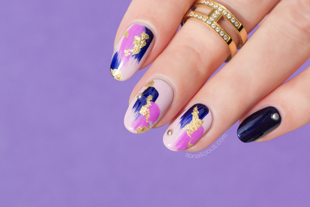 Nail foil archives sonailicious abstract purple nail design plus how to prinsesfo Images