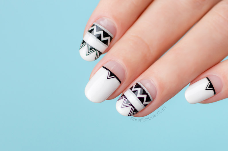 summer nail designs, aztec nails