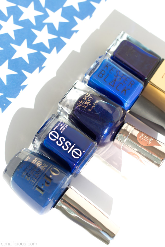 the best blue nail polishes for 4th of july